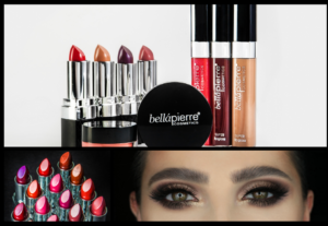 lipsticks, lipgloss en opgemaakte ogen